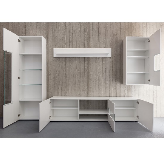 Leon TV Stand In White High Gloss With LED Lighting_2