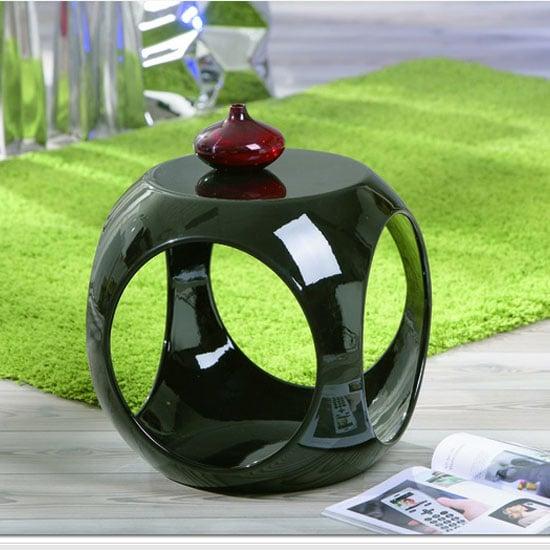 Nono Round Black Side Table
