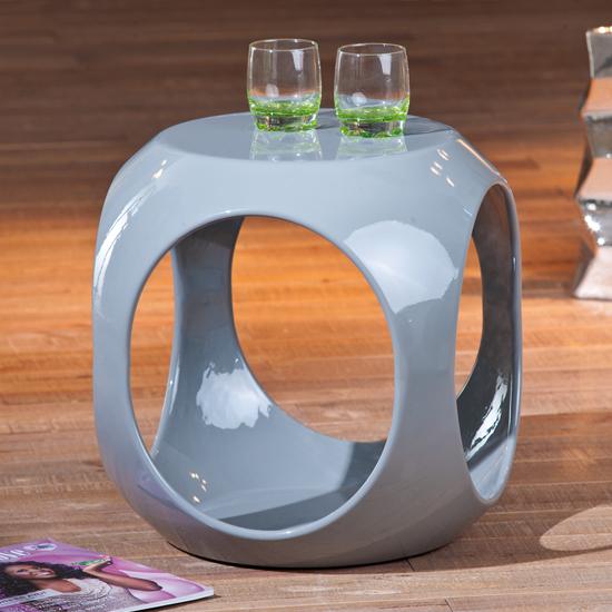 Nono Round Grey Side Table