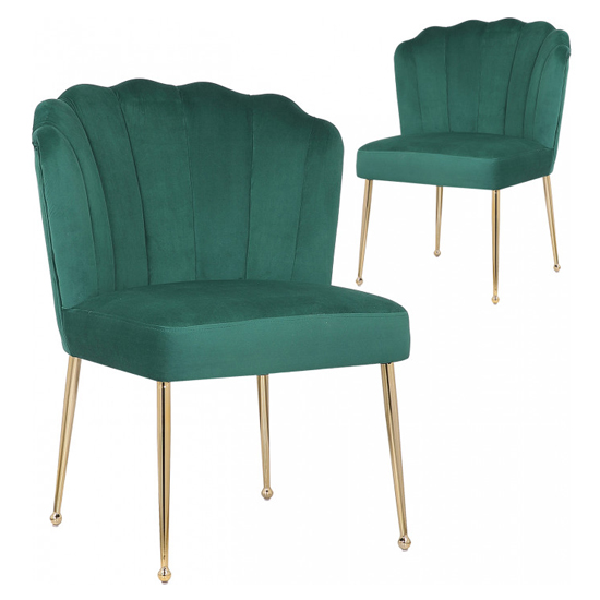 Nora Green Velvet Dining Chairs In Pair