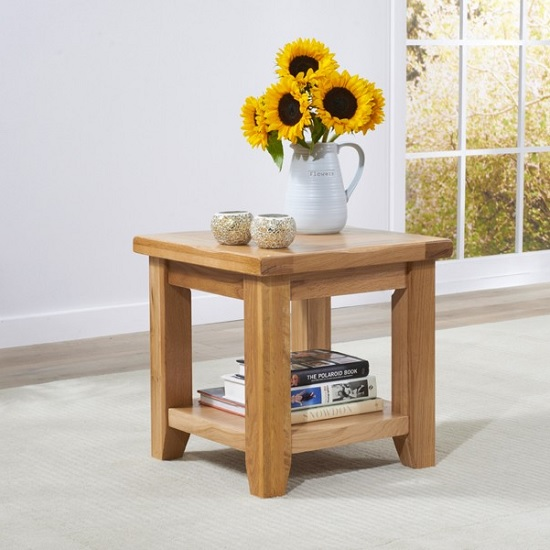 Nordin Wooden Lamp Table Square In Oak