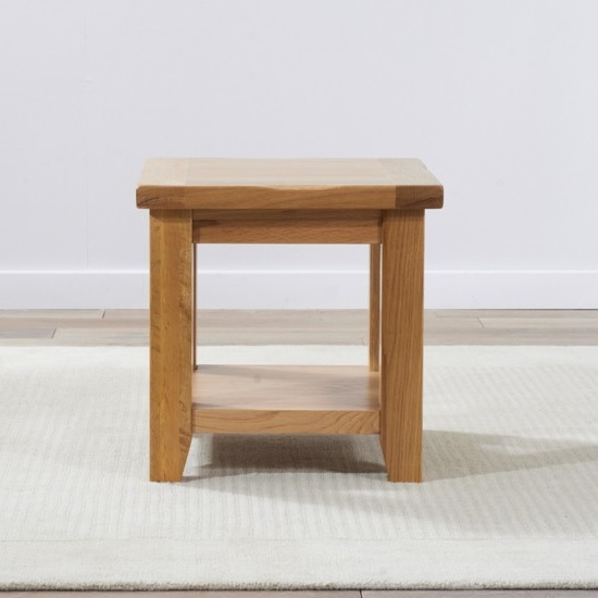 Nordin Wooden Lamp Table Square In Oak_2