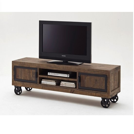 Norfolk TV Stand Pine Antique Brown Finish With Wheels : norfolkT32tvstandwithweels997714 from www.furnitureinfashion.net size 550 x 550 jpeg 31kB