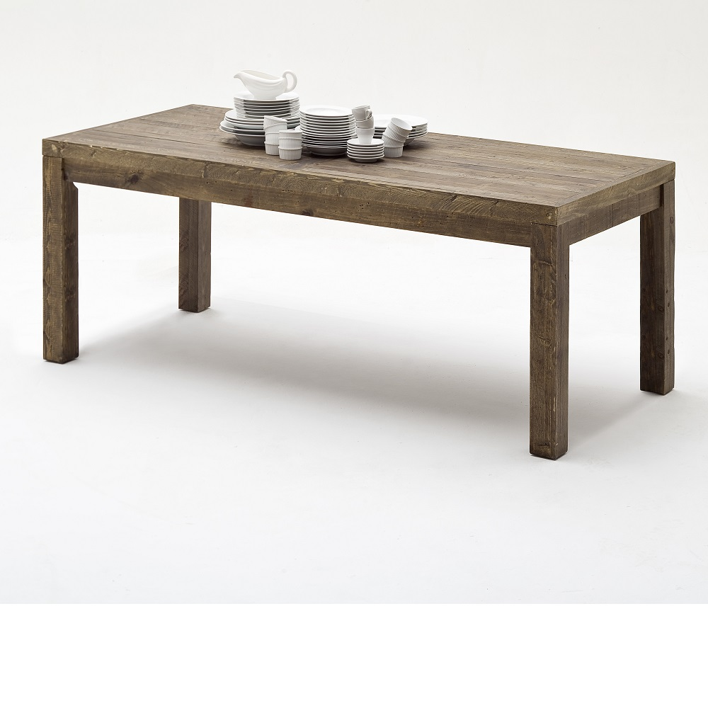 Norfolk  Dining Table Pine Antique Brown Finish