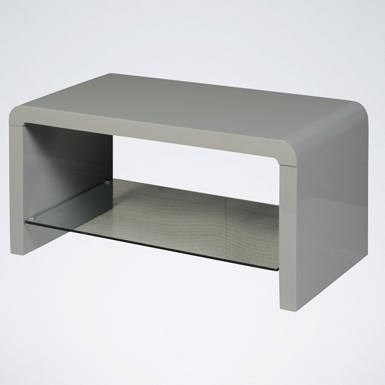 Norset Modern Coffee Table Rectangular In Grey Gloss