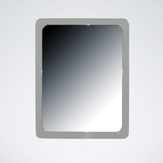 Norset Modern Wall Mirror Rectangular In Grey Gloss