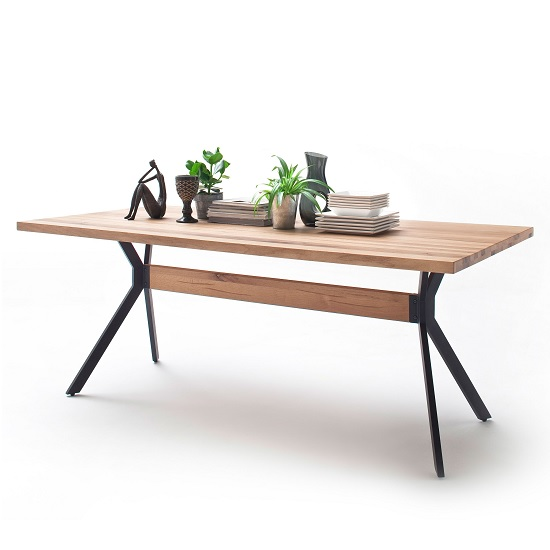 Norwich Wooden Large Dining Table Rectangular In Wild Oak