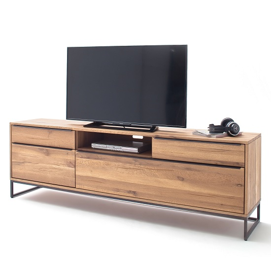 Norwich Wooden TV Stand Large In Wild Oak With 4 Doors