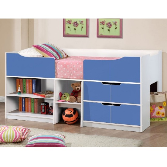 Nottingham Children Cabin Bed In White And Blue