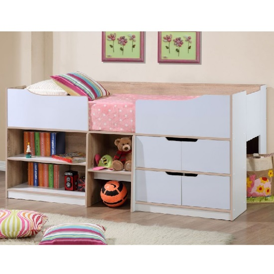 Nottingham Children Cabin Bed In White And Oak