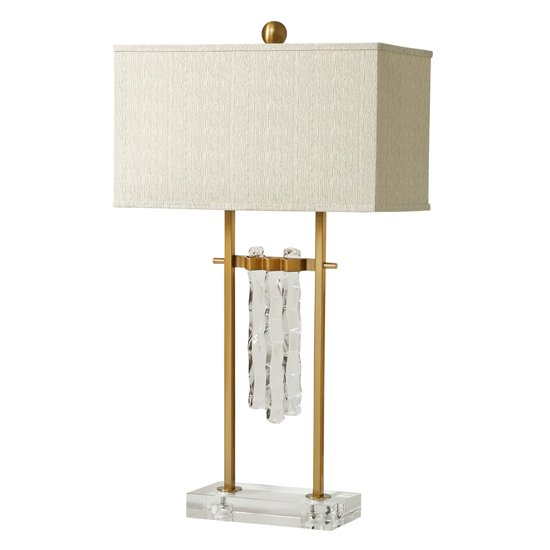 Nova Art Deco Table Lamp In Brass Finish