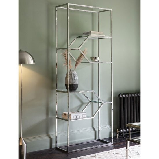 Nova Metal Open Shelving Unit In Silver