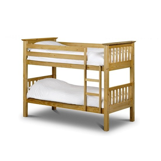 Novaro Wooden Bunk Bed In Antique Pine With Ladder_2
