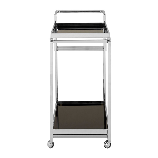 Kurhah 3 Tier Bar Trolley With Silver Finish Frame   _2