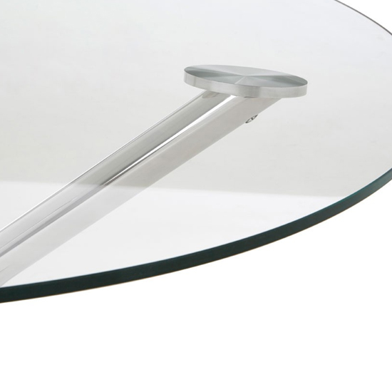 Kurhah Round Coffee Table In Silver      _2
