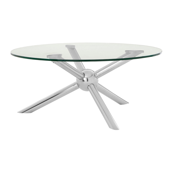 Kurhah Round Coffee Table In Silver      _1