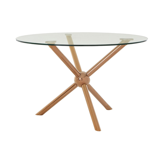 Novo Round Dining Table In Rose Gold