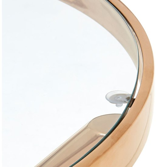 Kurhah Round Side Table In Rose Gold     _3