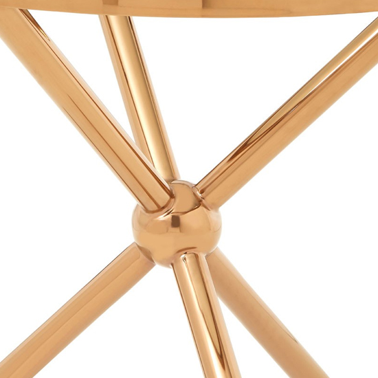 Kurhah Round Side Table In Rose Gold     _4