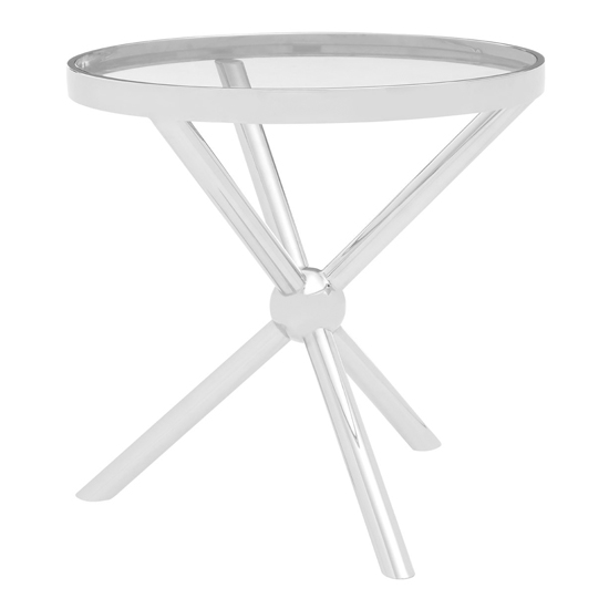 Kurhah Round Side Table In Silver
