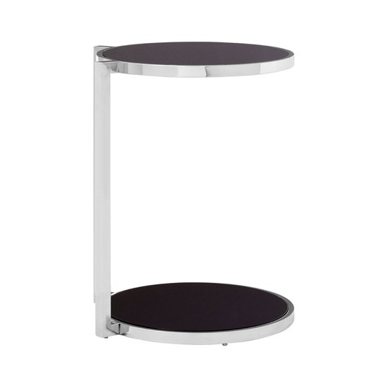 Kurhah Side Table In Silver With Rounded Base