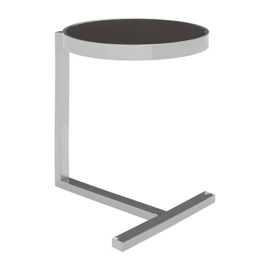 Kurhah Side Table In Silver With T-Shaped Base