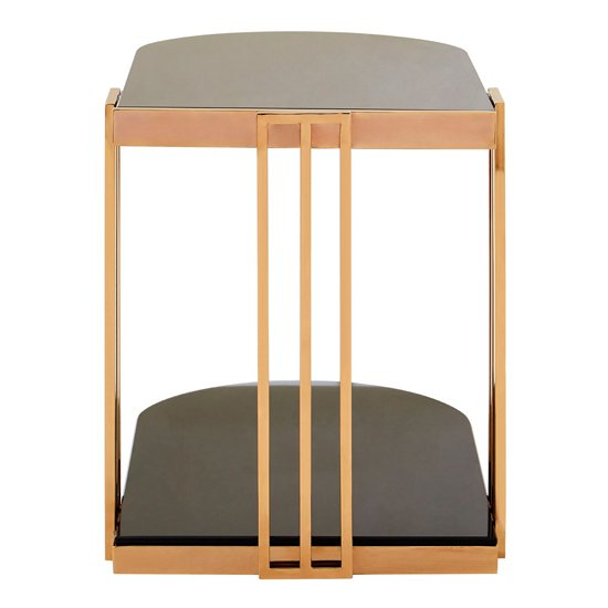 Kurhah U-Shaped Side Table In Rose Gold     _4