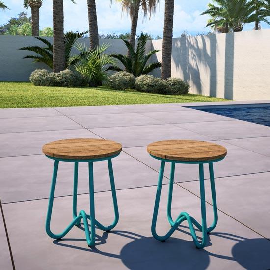 View Novogratz bobbi set of 2 bistro stools in turquoise