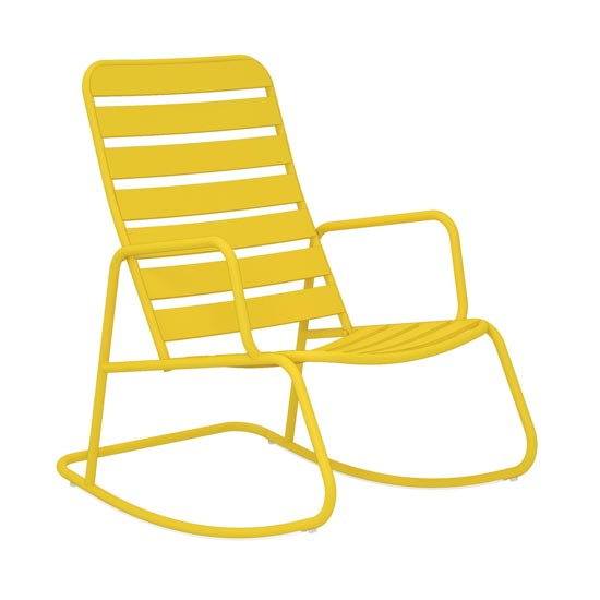 Novogratz Roberta Rocking Chair In Yellow_2