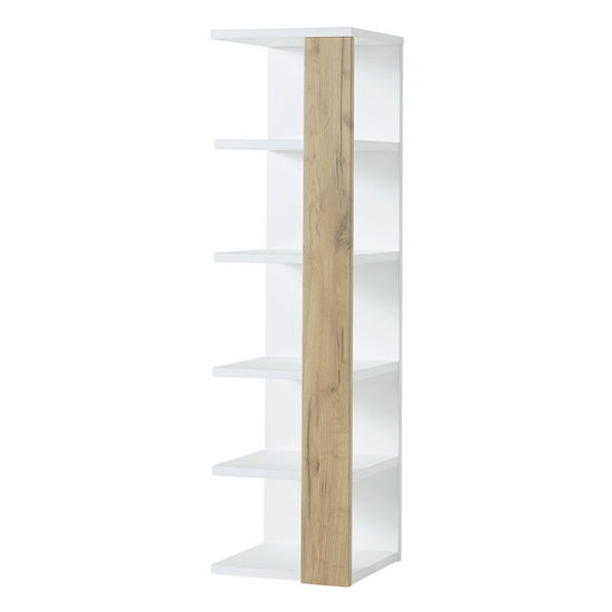 Novolino Bathroom Storage Shelf In White And Navarra Oak