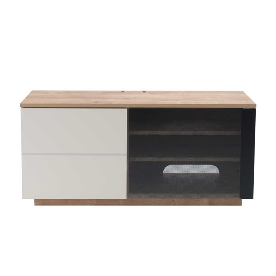 Parin TV Stand In Oak And Cream With Two Doors