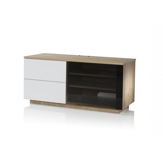 Parin TV Stand In Oak And White With Two Doors_3