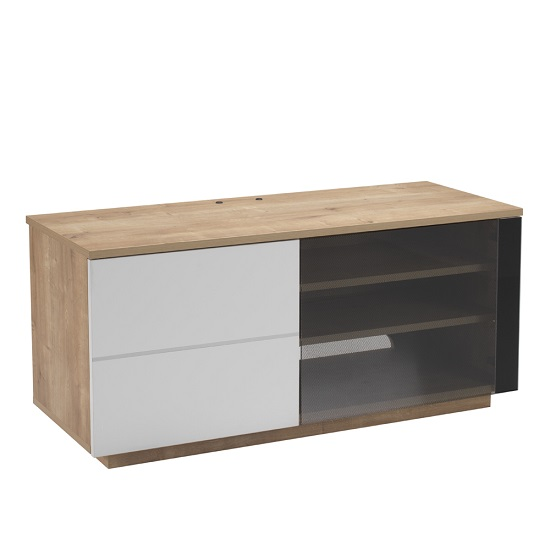 Parin TV Stand In Oak And White With Two Doors_5