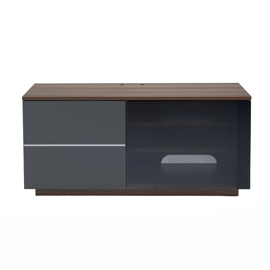 Parin TV Stand In Walnut And Grey With Two Doors