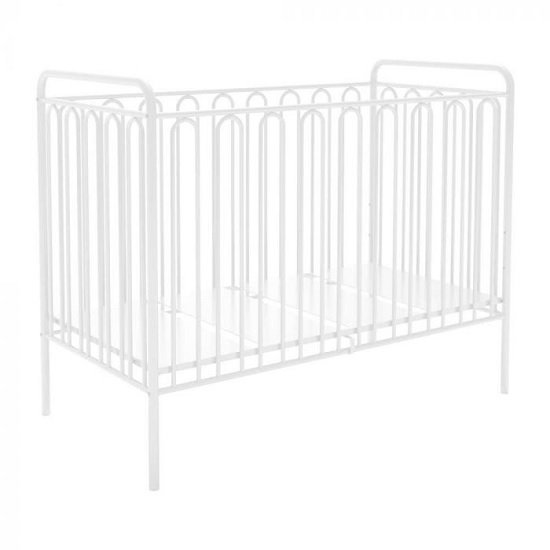 Nutkin Vintage Metal Baby Cot Bed In White_1