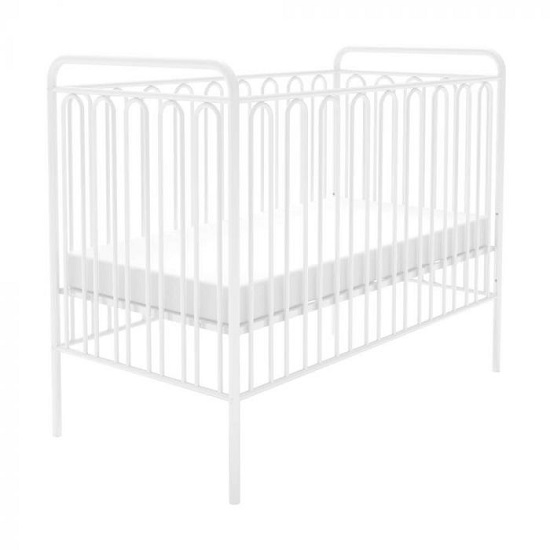 Nutkin Vintage Metal Baby Cot Bed In White_2