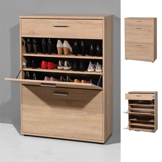 Read more about Big foot wooden shoe storage cupboard in oak