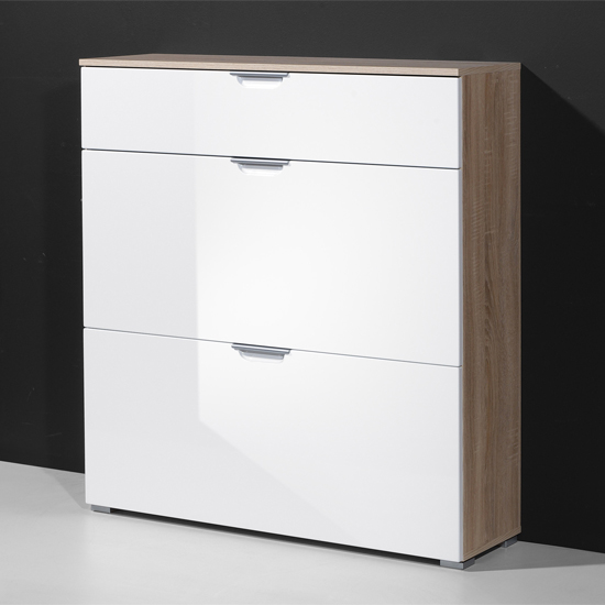 oak white shoe cabinet 3040 157 - Interior Suggestions For An Enclosed Shoe Storage Cabinet