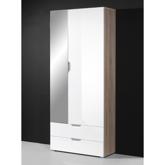 Eva Hallway Wardrobe In Gloss White