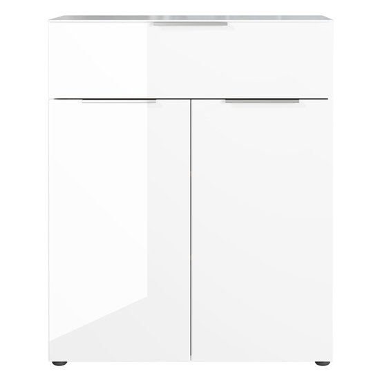 Oakland Chest Of Drawers In White High Gloss