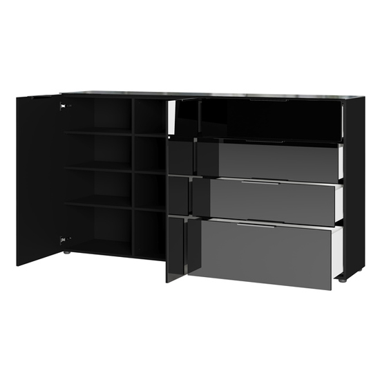 Oakland Large Sideboard In Black High Gloss_2