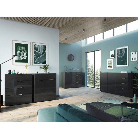 Oakland Large Sideboard In Black High Gloss_3