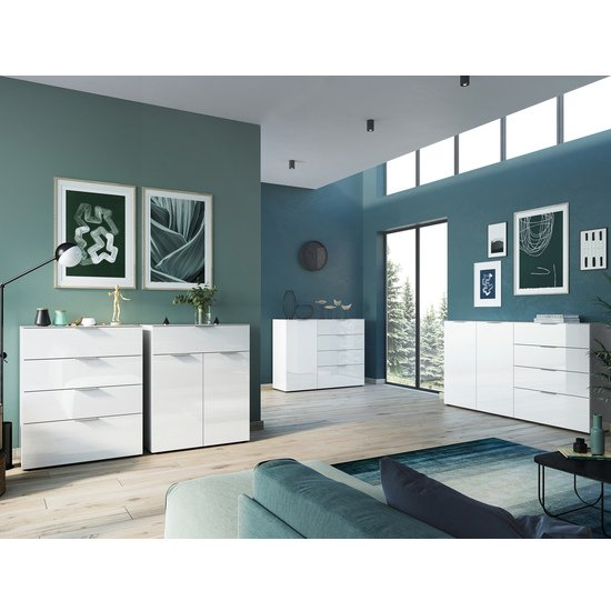 Oakland Large Sideboard In White High Gloss_3