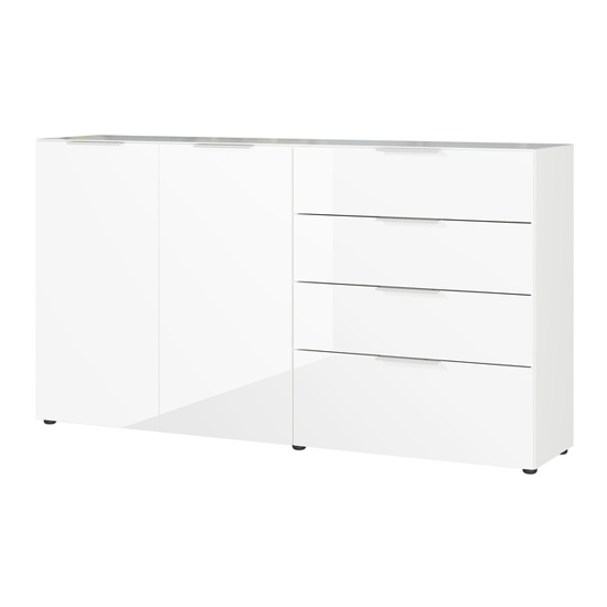Oakland Large Sideboard In White High Gloss