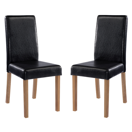 Oakridge Black Finish Dining Chairs In Pair