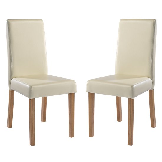 Oakridge Cream Finish Dining Chairs In Pair