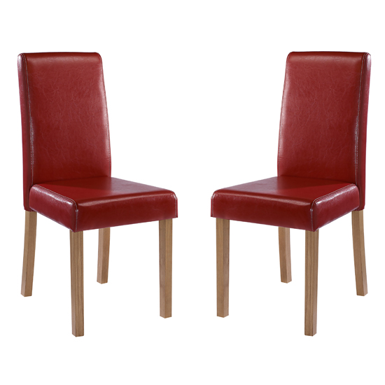 Oakridge Red Finish Dining Chairs In Pair_1