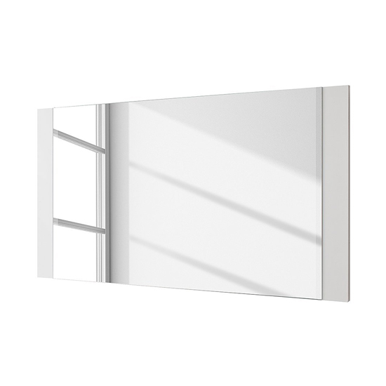 Ocean Wall Mirror In High Gloss White Wooden Frame