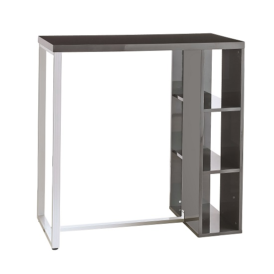 which kitchen cabinets are best bar table in grey high gloss with white metal legs 28442