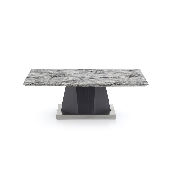 Octave Marble Top Coffee Table Rectangular In Charcoal Grey
